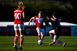 Frankie Brown of Bristol City is fouled by Abbey-Leigh Stringer of Everton Ladies - Mandatory by-line: Robbie Stephenson/JMP - 24/03/2019 - FOOTBALL - Stoke Gifford Stadium - Bristol, England - Bristol City Women v Everton Ladies - FA Women's Super League