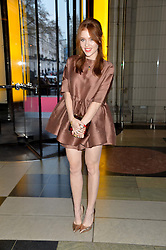 ANGELA SCANLON at a VIP preview of the V&A's new exhibition 'The Glamour of Italian Fashion' - a comprehensive look at Italian Fashion from 1945-2014 held at The Victoria & Albert Museum, London on 2nd April 2014.