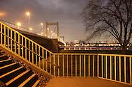 DEU, Germany, Cologne, the Muelheimer bridge across the river Rhine.....DEU, Deutschland, Koeln, die Muelheimer Bruecke ueber den Rhein...