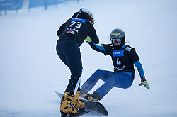 Kotnik Gloria and Dujmovits Julia during the FIS snowboarding world cup race in Rogla (SI / SLO) | GS on January 20, 2018, in Jasna Ski slope, Rogla, Slovenia. Photo by Urban Meglic / Sportida