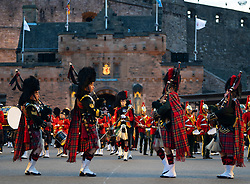Edinburgh, Scotland, UK. 5 August, 2019.  The Royal Edinburgh Military Tattoo forms part of the Edinburgh International festival. Pictured; the Massed Pipes and Drums