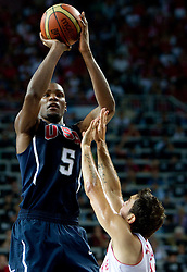 Kevin Durant  of USA during the finals basketball match between National teams of Turkey and USA at 2010 FIBA World Championships on September 12, 2010 at the Sinan Erdem Dome in Istanbul, Turkey.  USA defeated Turkey 81 - 64 and became World Champion 2010. (Photo By Vid Ponikvar / Sportida.com)