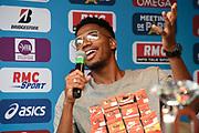Abderrahman Samba (QAT) during press conference of Meeting de Paris 2018, Diamond League, at Hotel Marriott, in Paris, France, on June 29, 2018 - Photo Jean-Marie Hervio / KMSP / ProSportsImages / DPPI