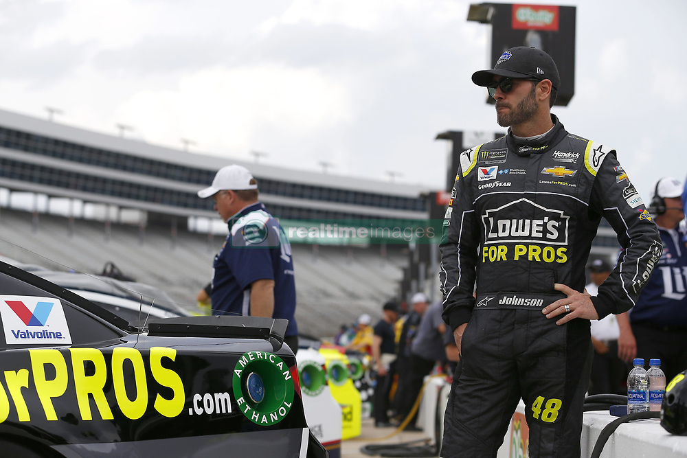 April 6, 2018 - Ft. Worth, Texas, United States of America - April 06, 2018 - Ft. Worth, Texas, USA: Jimmie Johnson (48) waits to qualify for the O'Reilly Auto Parts 500 at Texas Motor Speedway in Ft. Worth, Texas. (Credit Image: © Stephen A. Arce Asp Inc/ASP via ZUMA Wire)