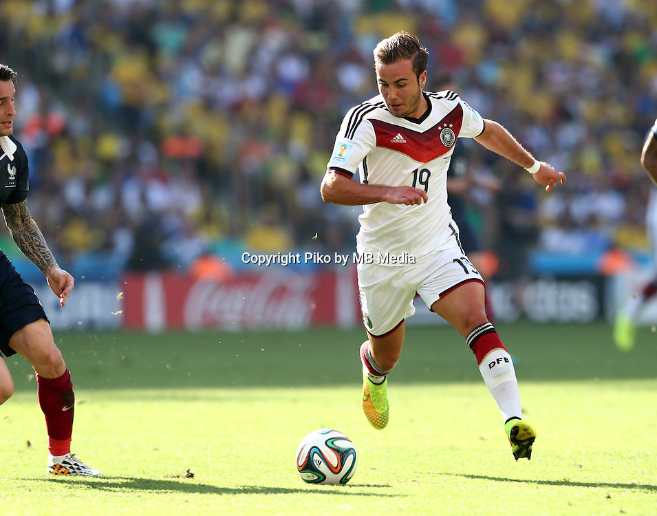 Fifa Soccer World Cup - Brazil 2014 - <br /> FRANCE (FRA) Vs. GERMANY (GER) - Quarter-finals - Estadio do MaracanaRio De Janeiro -- Brazil (BRA) - 04 July 2014 <br /> Here German player Mario GOETZE<br /> &copy; PikoPress