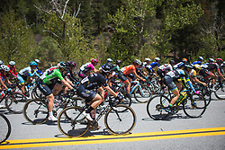 Grace Brown (AUS) rides mid-pack on Stage 2 of the Amgen Tour of California - a 108 km road race, starting and finishing in South Lake Tahoe on May 18, 2018, in California, United States. (Photo by Balint Hamvas/Velofocus.com)