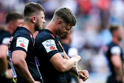 Jack Maunder of Exeter Chiefs cuts a dejected figure after defeat to Saracens in the Premiership Rugby Final - Mandatory by-line: Robbie Stephenson/JMP - 01/06/2019 - RUGBY - Twickenham Stadium - London, England - Exeter Chiefs v Saracens - Gallagher Premiership Rugby Final