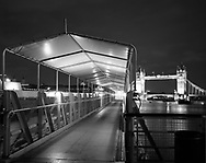 Gangway and view towards Tower Bridge<br /> <br /> February 2002