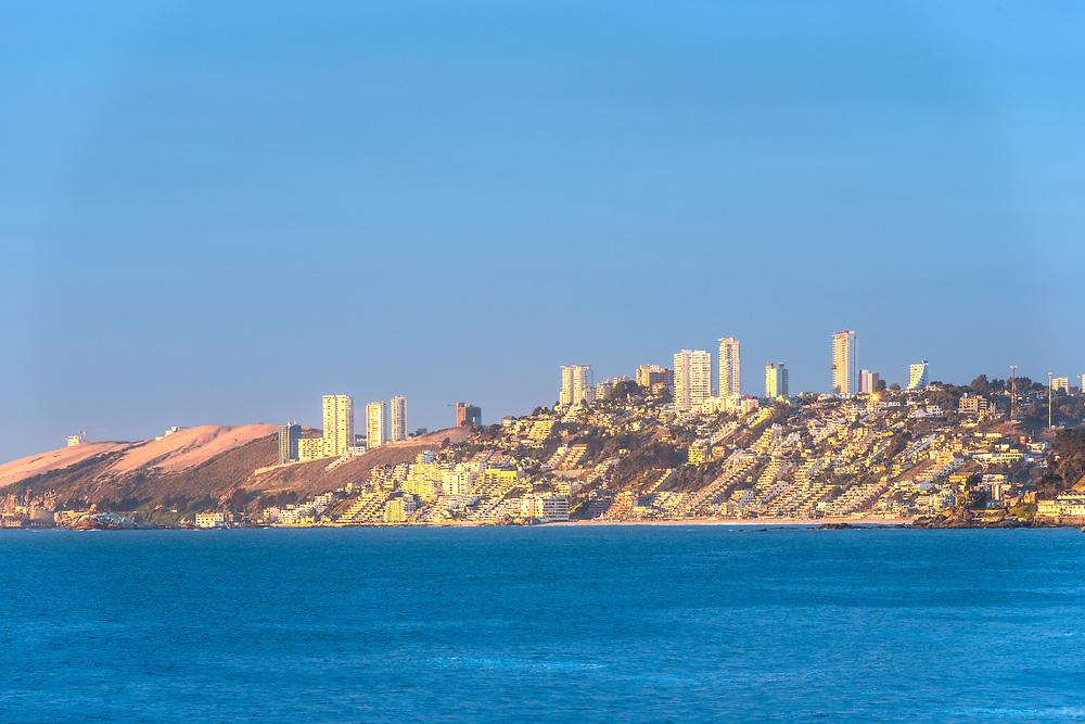 Renaca resort town at Valparaiso region, Chile