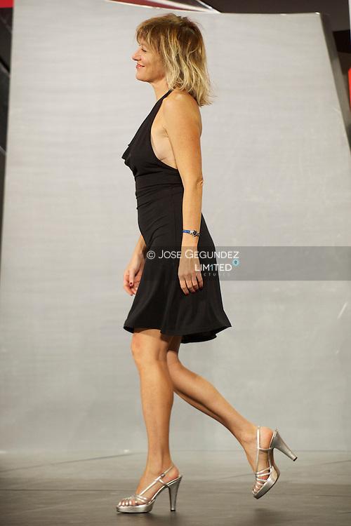 Valeria Bruni Tedeschi attends the closing ceremony of the 61st San Sebastian International Film Festival on September 28, 2013 in San Sebastian, Spain.