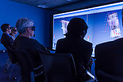 Demonstration of seismic data and geological surfaces, 3D Virtual Reality Centre First Year Anniversary Event, Saskatchewan Research Council, Saskatoon, Friday, October 13, 2006.<br /> <br /> Organizations: <br /> Western Economic Diversification<br /> Saskatchewan Industry and Resources<br /> Saskatchewan Research Council<br /> University of Saskatchewan<br /> Location: 3D Virtual Reality Centre,<br /> Saskatchewan Research Council<br /> 125 – 15 Innovation Boulevard, Saskatoon, SK<br /> <br /> Dignitaries present:<br /> Paul Labbé, Vice-President, Mining and Minerals, SRC.<br /> Honourable Eric Cline, Minister of Saskatchewan Industry and Resources and Minister Responsible for the Saskatchewan Research Council.<br /> Lynne Yelich, Member of Parliament for Blackstrap, on behalf of Minister Carol Skelton, Minister of National Revenue and Minister of Western Economic Diversification Canada.<br /> Dave Billard, Exploration Manager, JNR Resources Inc.