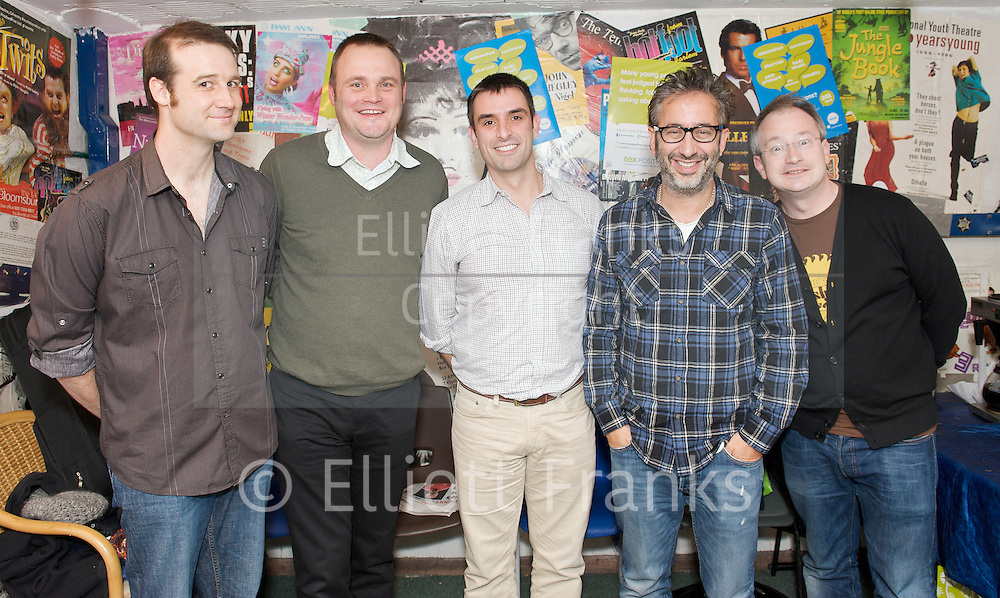 Sex Appeal - <br /> &quot;More sex please we're British!&quot; <br /> a Comedy fundraising event in aid of Brook at the Bloomsbury Theatre, London, Great Britain <br /> 13th January 2012<br /> <br /> Matt Parker<br /> Al Murray<br /> Simon Blake (Brook, CEO)<br /> David Baddiel<br /> Robin Ince<br /> <br /> Photograph by Elliott Franks