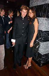 COUNTESS DEBONAIRE VON BISMARCK and her son COUNT NIKOLI VON BISMARCK at a party hosted by Allegra Hicks and Melissa Del Bono to celebrate the opening of Volstead, Swallow Street, London W1 on 4th May 2006.<br />