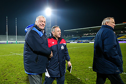 CEO Steve Gorvett and Bristol Rugby Head Coach Mark Tainton celebrate after Bristol Rugby win the game 18-28 - Rogan Thomson/JMP - 16/12/2016 - RUGBY UNION - Stade du Hameau - Pau, France - Pau v Bristol Rugby - EPCR Challenge Cup.