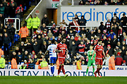 Nottingham Forest defender Danny Fox (4) is sent off during the EFL Sky Bet Championship match between Reading and Nottingham Forest at the Madejski Stadium, Reading, England on 12 January 2019.
