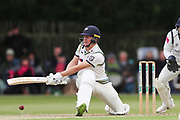 Gary Ballance of Yorkshire sweeps the ball during the Specsavers County Champ Div 1 match between Yorkshire County Cricket Club and Warwickshire County Cricket Club at York Cricket Club, York, United Kingdom on 17 June 2019.