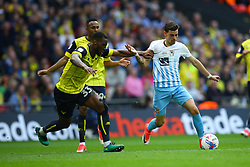 Ruben Lameiras of Coventry City on the attack under pressure from Cheyenne Dunkley of Oxford United - Photo mandatory by-line: Jason Brown/JMP -  02/04//2017 - SPORT - Football - London - Wembley Stadium - Coventry City v Oxford United - Checkatrade Trophy Final
