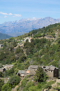 """Morosaglia, hometown of Corsican national hero Pascal Paoli. The """"Castaniccia"""" has its name from the chestnut forests covering most of it."""