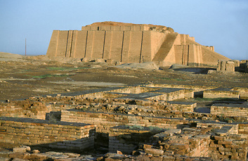 Ancient Sumerian archaeological site of Ur of the Chaldees in Southern Iraq