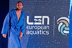 Guus Van IJperen #5 of Netherlands during Netherlands vs Malta on LEN European Aquatics Waterpolo January 21, 2020 in Duna Arena in Budapest, Hungary