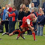 NLD/Amsterdam/20060422 - Rugby, Kwalificatiewedstrijd voor het WK 2007,  Nederland - Polen