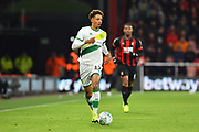 Jamal Lewis (12) of Norwich City during the EFL Cup 4th round match between Bournemouth and Norwich City at the Vitality Stadium, Bournemouth, England on 30 October 2018.