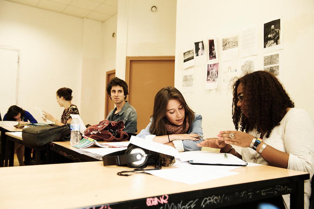 "PARIS, FRANCE. MAY 26, 2011. Simon spent two years at Saint Nazaire's self-managed college, then one at the ""LAP"" (Lycee Autogere de Paris, lit. ""self-managed college of Paris""). Photo: Antoine Doyen"