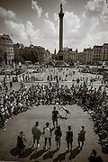 Street show in Trafalgar Square. London, England, July 23 2014. ©2014 Darren Carroll
