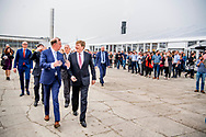 MILSBEEK - King Willem-Alexander at the opening of the new Indoor Fresh Compost Factory of CNC Raw Materials in Milsbeek. ROBIN UTRECHT