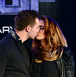 Kieran Hayler with Katie Price attends The World Premiere of 'Robocop' UK film premiere, BFI IMAX, London, United Kingdom. Wednesday, 5th February 2014. Picture by Nils Jorgensen / i-Images.<br />
