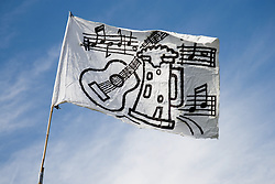 Flag flying at the Cropredy Festival  Fairport's Cropredy Convention  2005