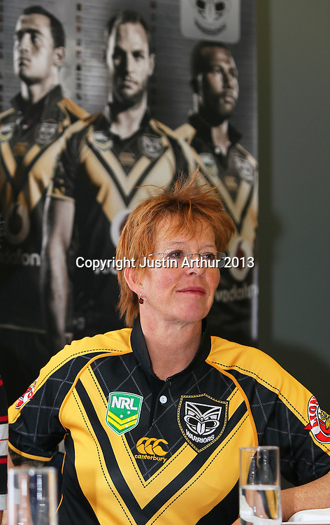 Celia Wade-Brown Mayor of Wellington. Vodafone Warriors in Wellington - Vodafone Warriors hold a press conference in Wellington ahead of their clash with the Bulldogs on Saturday 11 May 2013. Westpac Stadium, Wellington, New Zealand on 20 March 2013. Photo: Justin Arthur / photosport.co.nz