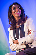 Zeinab Badawi, International Broadcaster moderates the 2014 Stars Foundation Philanthropreneurship Forum, Regents Park, London.