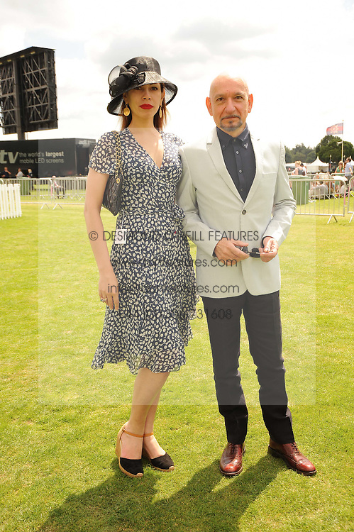 SIR BEN KINGSLEY and DANIELLA LAVENDER at the Cartier International Polo at Guards Polo Club, Windsor Great Park, Berkshire on 25th July 2010.