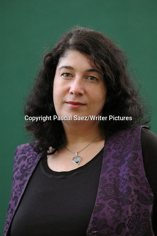 Writer Joanne Harris, author of &quot;Chocolat&quot; and &quot;The Lollipop Shoes&quot;, at the Edinburgh International Book Festival 2007. <br /> <br /> Copyright Pascal Saez/Writer Pictures<br /> <br /> contact +44 (0)20 8241 0039<br /> sales@writerpictures.com<br /> www.writerpictures.com