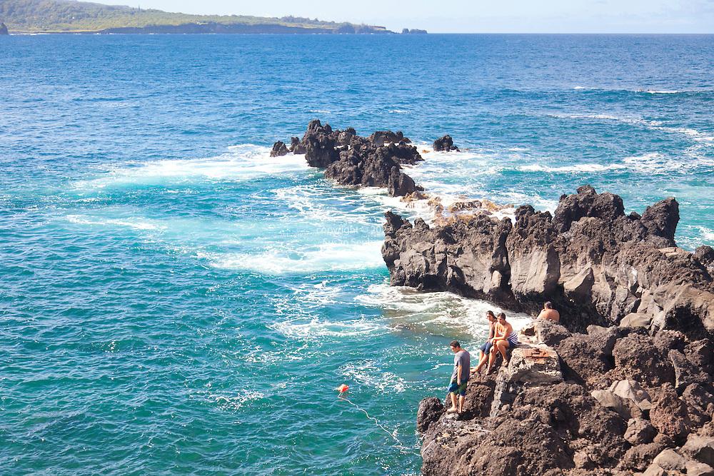 Maui, Hawaii./ Nahiku is a small village in eastern Maui, Hawaii. Nahiku is located along the Hana Road on the way to Hana. Nahiku is reached by Nahiku Road coming down from the Hana Road to Opuhano Point on Honolulunui Bay.