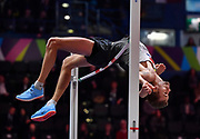 Mateusz Przybylko (GER) places third tin the high jump at 7-6 (2.29m) during the IAAF World Indoor Championships at Arena Birmingham in Birmingham, United Kingdom on Thursday, Mar 1, 2018. (Steve Flynn/Image of Sport)
