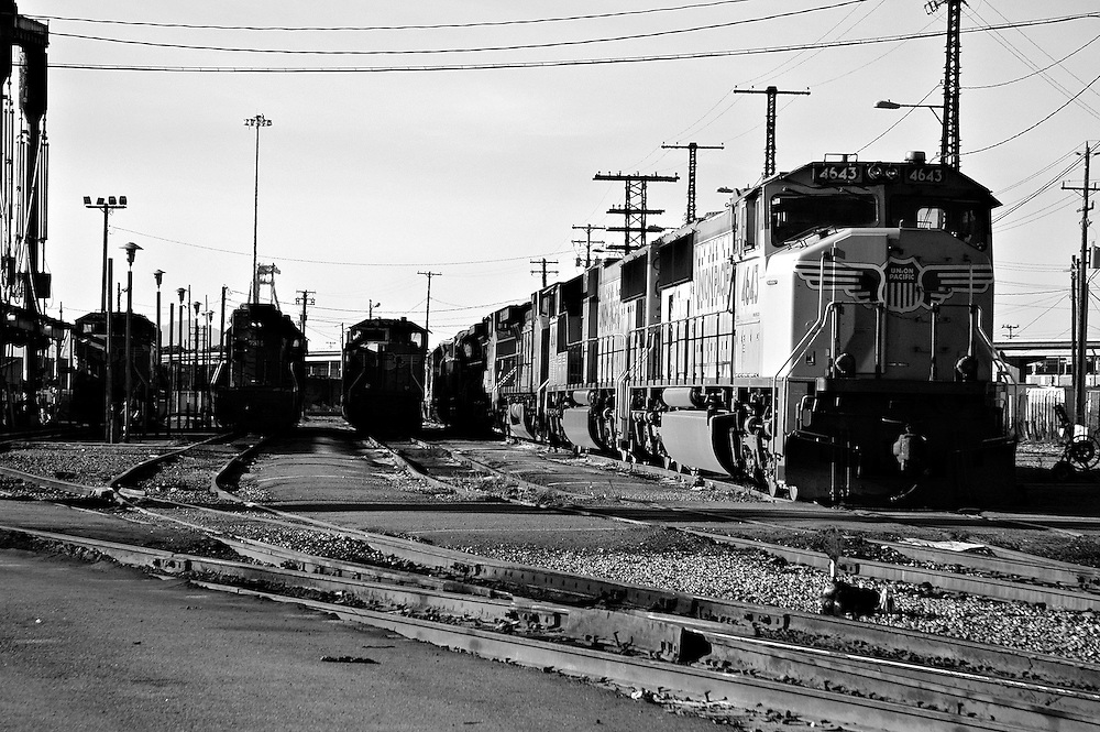 A trainyard in Oakland, CA.