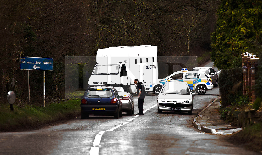 © Licensed to London News Pictures. FILE PIC DATED. 23/01/2012, Tardebigge UK. The scene where John Anslow, 32, escaped from a prison van in January 2012. Murder suspect Anslow, who went on the run after being freed from a prison van by masked gang has been arrested in Cyprus. Photo credit : Dave Warren/LNP