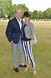 LYSETTE ANTHONY and ? at the Flannels For Heroes cricket competition in association with Dockers held at Burton Court, Chelsea, London on 19th June 2015