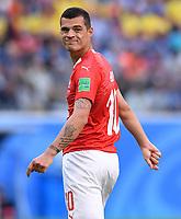FUSSBALL  WM 2018  Achtelfinale  ------ Schweden - Schweiz   03.07.2018 Granit Xhaka (Schweiz)