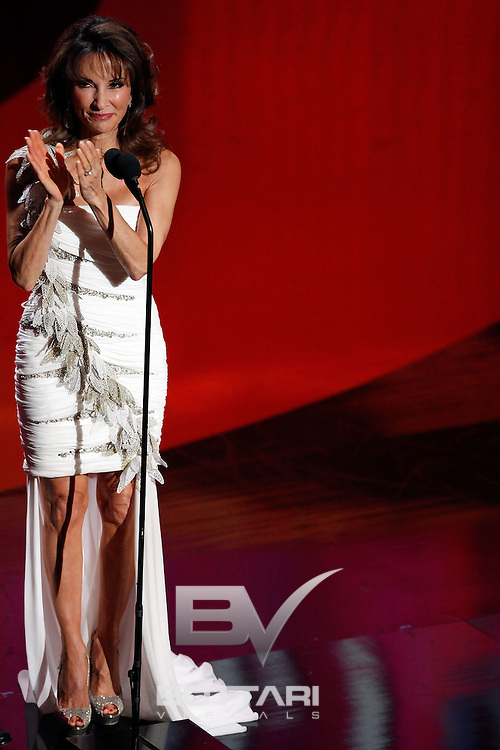 Actress Susan Lucci speaks onstage during the Daytime Emmy Awards on Sunday June 19, 2011 in Las Vegas. (AP Photo/Jeff Bottari)