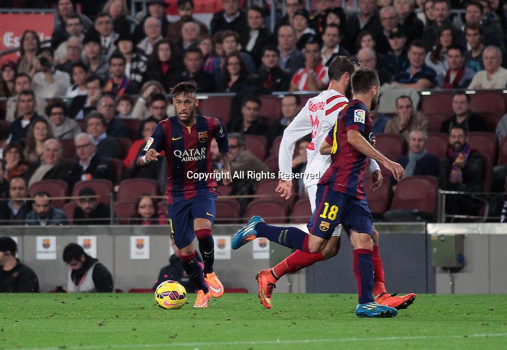 22.11.2014. Barcelona. Spain, La Liga football. Barcelona versus Sevilla.  Neymar in action