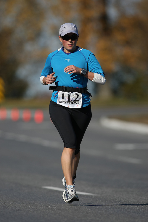(Ottawa, ON---18 October 2008) ANDREA MATTHEWS competes in the 2008 TransCanada 10km Canadian Road Race Championships. Photograph copyright Sean Burges/Mundo Sport Images (www.msievents.com).