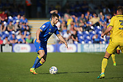 AFC Wimbledon defender Jon Meades (3) on the attack during the EFL Sky Bet League 1 match between AFC Wimbledon and Bristol Rovers at the Cherry Red Records Stadium, Kingston, England on 8 April 2017. Photo by Matthew Redman.