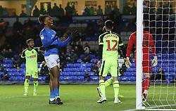 Ivan Toney of Peterborough United rues a missed chance to score - Mandatory by-line: Joe Dent/JMP - 14/12/2019 - FOOTBALL - Weston Homes Stadium - Peterborough, England - Peterborough United v Bolton Wanderers - Sky Bet League One