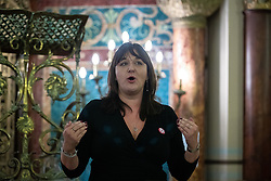 © Licensed to London News Pictures . 22/09/2019. Brighton, UK. RUTH SMEETH speaks at a fringe event by the Jewish Labour Movement at middle Street Brighton Synagogue, during the second day of the 2019 Labour Party Conference from the Brighton Centre . Photo credit: Joel Goodman/LNP