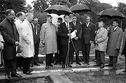 21/06/1965<br /> 06/21/1965<br /> 21 June 1965<br /> Cutting first sod for the Irish-Swiss Institute of Horology, Blanchardstown, Dublin. The institute, that was to hold courses in watch repairing,was due to an agreement between the Department of Education and the Swiss Watch Industry. Picture shows Mr. George Colley, Minister for Education, addressing the gathering.