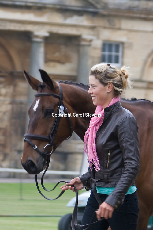 Lucy Jackson and Animator II at the vet inspection, Bramham Horse Trials 2010