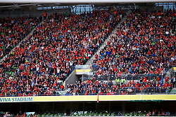 DUBLIN, REPUBLIC OF IRELAND - Saturday, August 5, 2017: Liverpool supporters perform a Mexican Wave during a preseason friendly match between Athletic Club Bilbao and Liverpool at the Aviva Stadium. (Pic by David Rawcliffe/Propaganda)